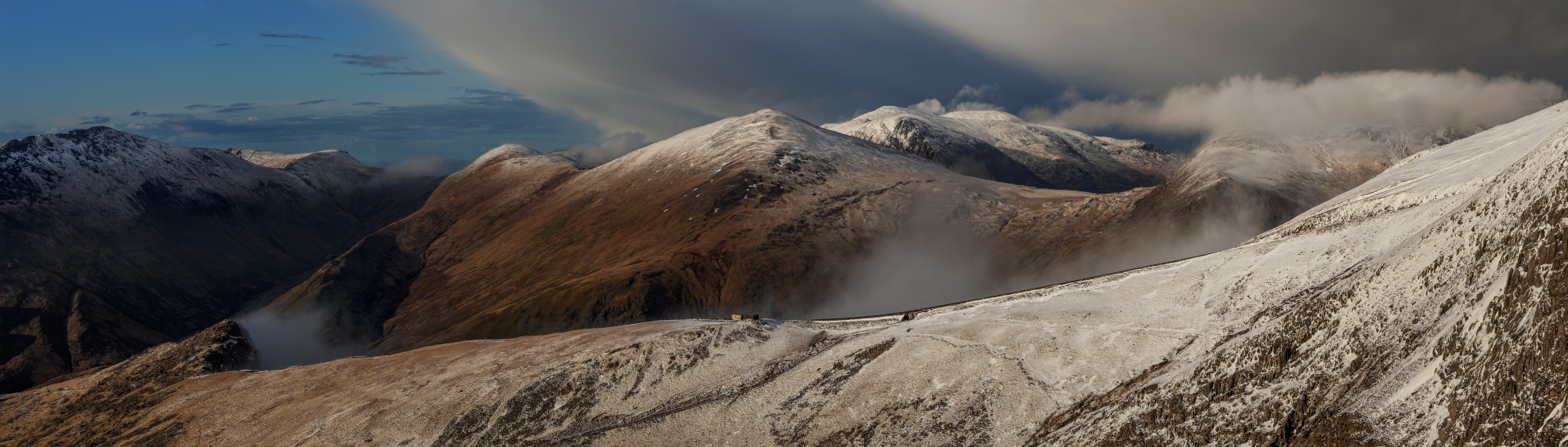 Landscape photography /Winter Storm over Glyders