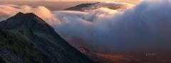 Snowdonia mountain photography / Crib Goch misty sunrise.