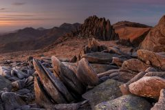 Panoramic landscape Photography/ Castell y Gwynt-Castle of winds Glyders Snowdonia North Wales panorama