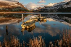 Wales Landscape Photography / Llyn Nantlle Uchaf Snowdonia  North Wales Winter