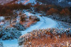 Winter Malvern Hills landscape photography framed prints for sale