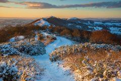Winter sunrise Malvern Hills landscape photography prints for sale