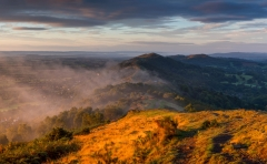 Landscape Photography Worcestershire/ Malvern Hills Worcestershire at misty Autumn sunrise