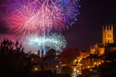 Landscape Photography Worcestershire/ Worcester Cathedral festival fireworks