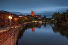 Landscape Photography Worcestershire / Worcester Cathedral at night