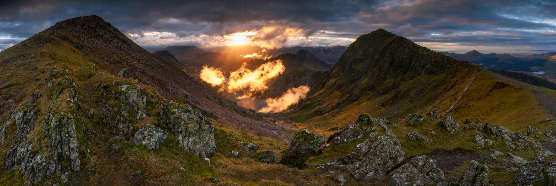 Workshops Snowdonia Wales / Snowdon summit view