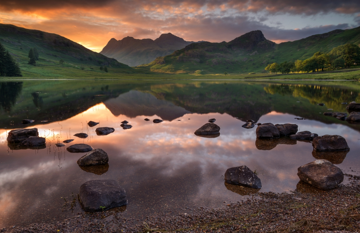 Blea Tarn lake District/canvas prints wall art for sale