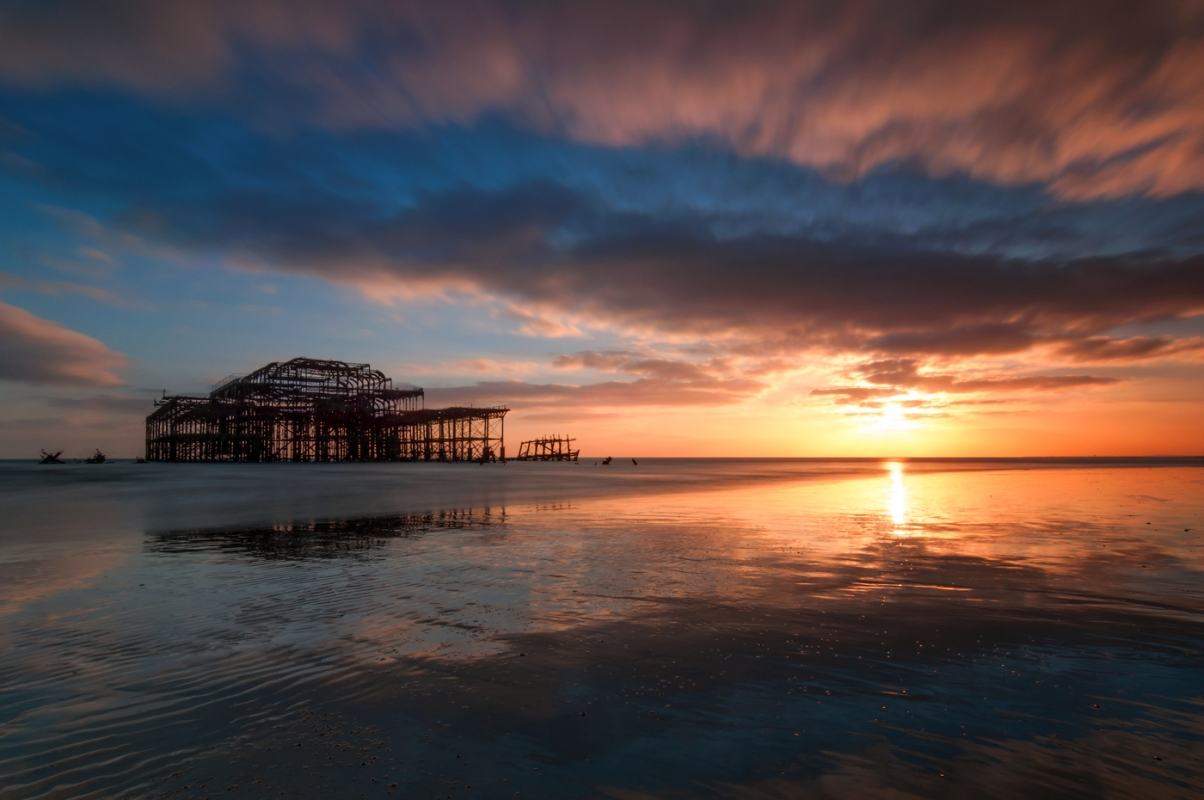 West Pier Brighton/canvas prints wall art for sale