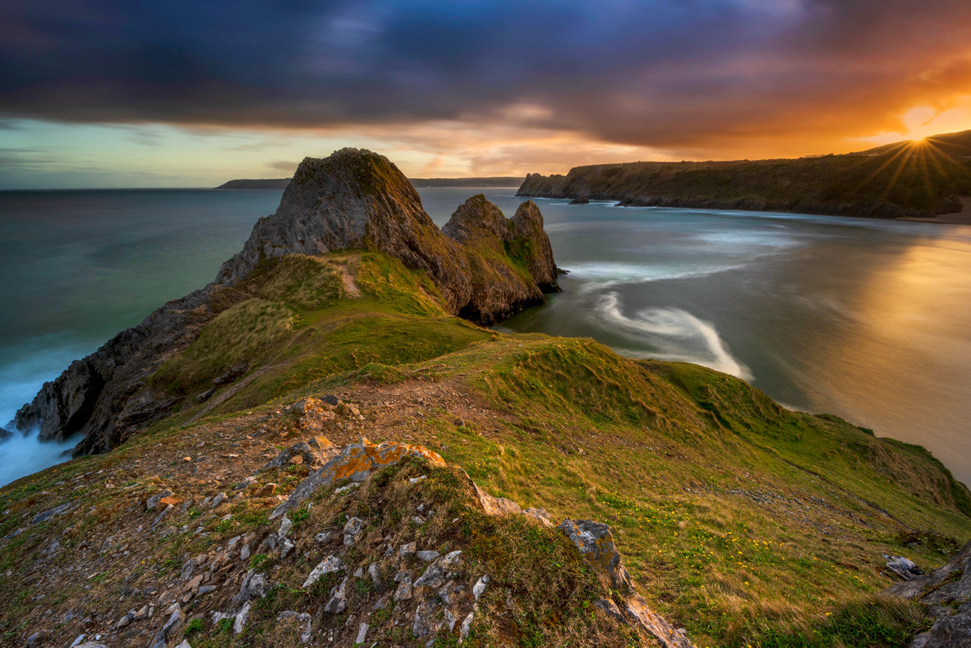 Three Cliffs Bay Gower Peninsula Wales landscape photography prints for sale