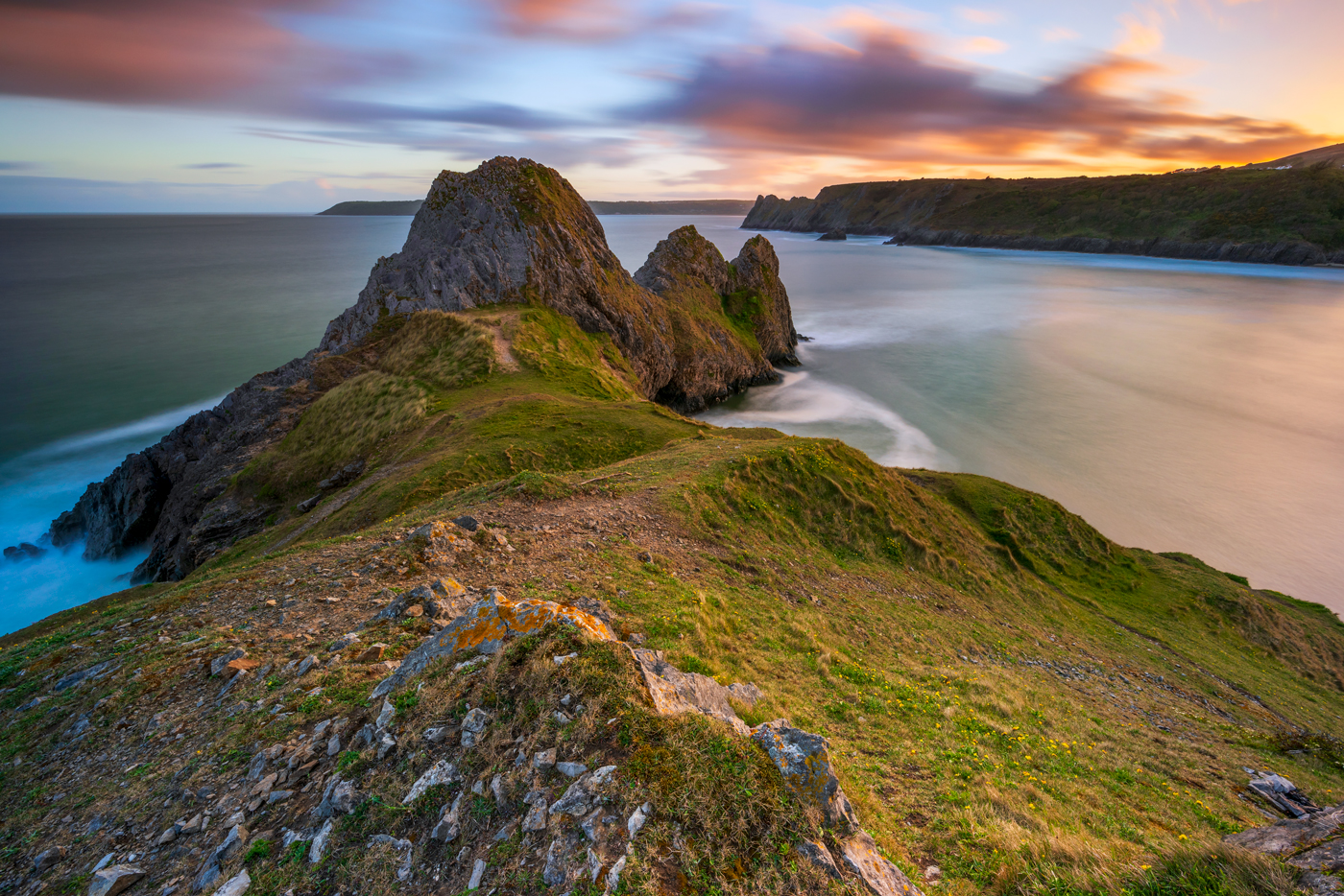 Three Cliffs Bay Gower Peninsula Wales canvas prints for sale