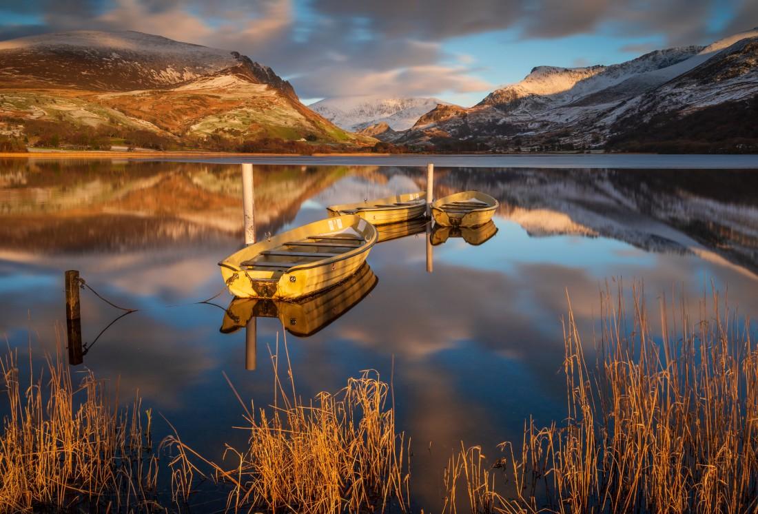 Llyn Nantlle Uchaf  lake Snowdonia North Wales