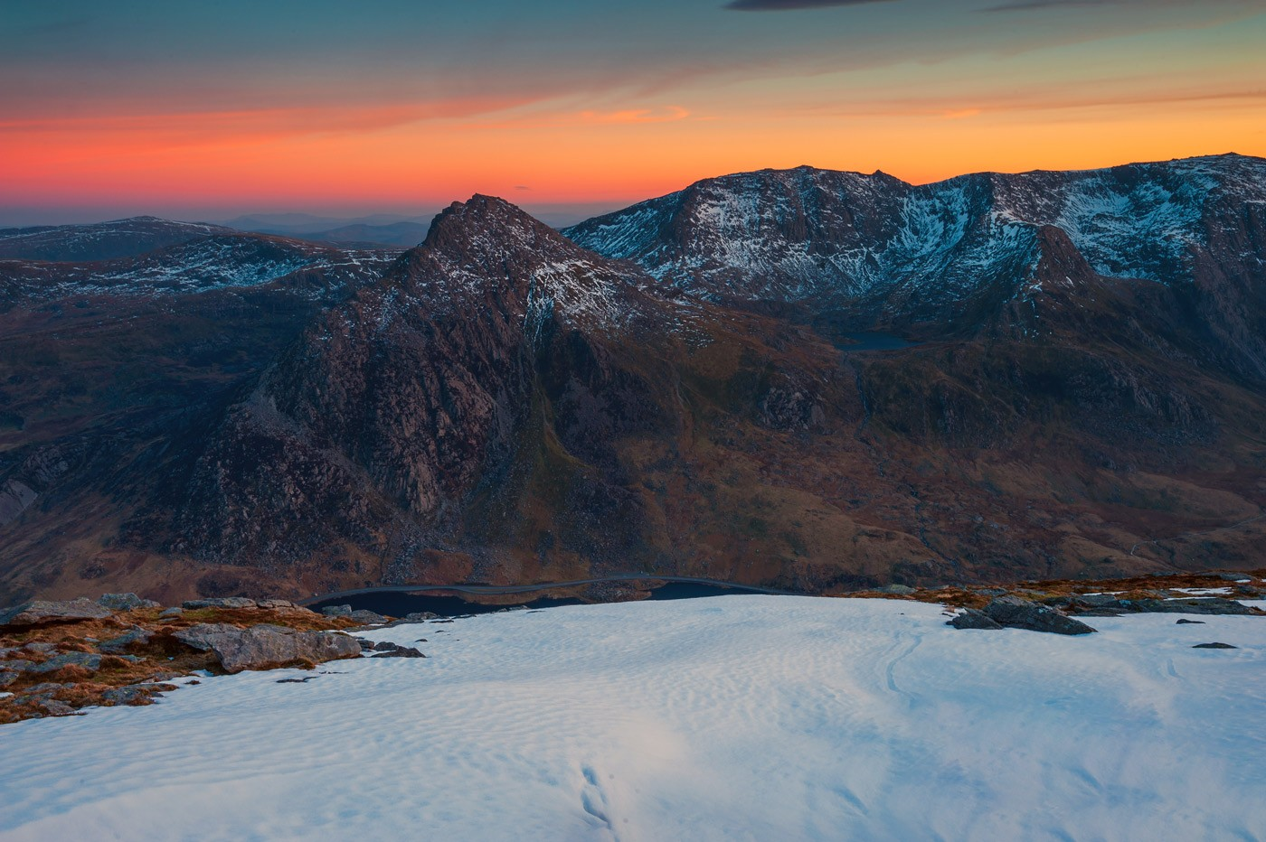 Tryfan Ogwen Valley and Glyders Snowdonia North Wales