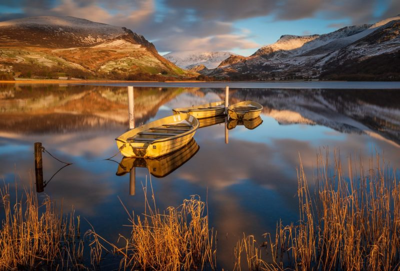 Llyn Nantlle Uchaf, Snowdonia Wales canvas prints wall art for sale