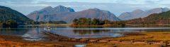 Panoramic landscape photography/  Ben Nevis Scottish Highlands Autumn panorama