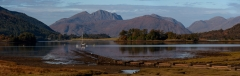 Panoramic landscape photography/ Scottish Highlands Autumn panorama