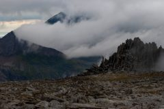 Panoramic landscape Photography/ Castle of winds Glyders Snowdonia North Wales panorama