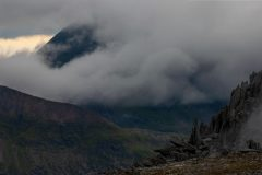 Panoramic landscape Photography/ Castle of winds Glyders Snowdonia North Wales panorama  landscape photography prints for sale