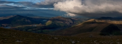 Panoramic landscape photography /Nantlle Ridge and Moel Hebog Autumn sunrise