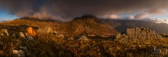 Panoramic landscape photography/ Tryfan Glyders at Winter spectacular stormy sunrise landscape photography prints for sale