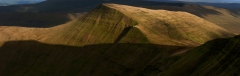 Panoramic landscape Photography Wales /Pen y Fan golden hours Brecon Beacons Wales