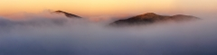 Panoramic landscape photography/Malvern Hills Worcestershire Winter frosty sunrise