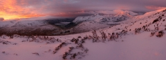 Panoramic photography Snowdonia North Wales/ Snowdoummit Crib Goch sunrise Winter panoramania North Wales Snowdon s