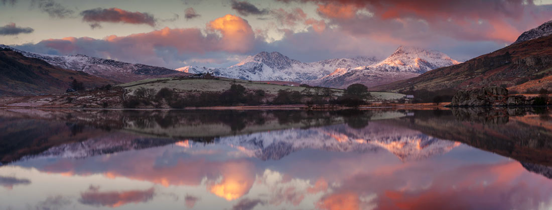 Wales Landscape Photography /Llynnau Mymbyr and the Snowdon  summit