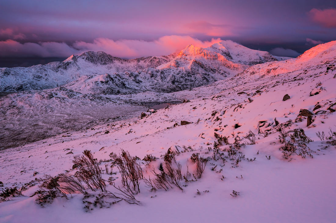 Wales Landscape Photography / Snowdon summit sunrise Snowdonia North Wales