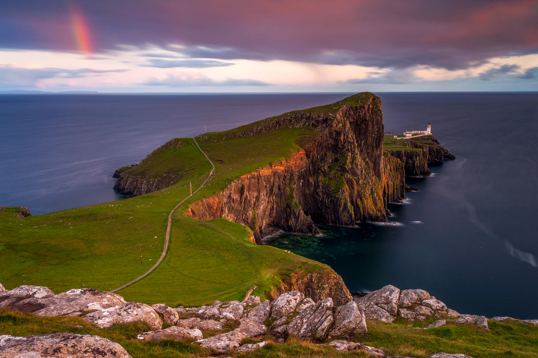 Scotland Landscape Photography/Neist Point Lighthouse at stunning sunset