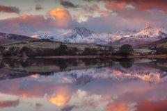 Wales Landscape Photography /Llynnau Mymbyr and the Snowdon  summit