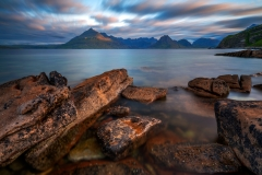 Scotland Landscape Photography/ Cuillin Mountains from Elgol Isle of Skye in the sunrise light