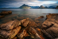 Scotland Landscape Photography/ Cuillin Mountains from Elgol Isle of Skye at sunrise