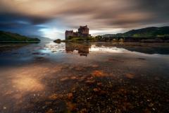 Scotland Landscape Photography/ Eilean Donan Castle Autumn sunrise.