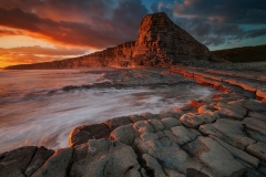 Seascape Photography prints &The Golden Hour over Wales