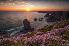 Seascape Photography prints & Bedruthan Steps at Summer Sunset