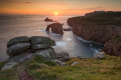 Lands End, Cornwall sunset/Lands End, Cornwall prints for sale