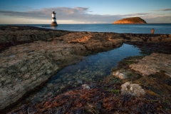 Seascape Photography prints & Trwyn Du Lighthouse at sunset