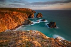 Seascape Photography prints Bedruthan Steps at Summer Sunset
