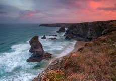 Bedruthan Steps at Summer Sunrise