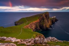 Scotland seascape Photography / Neist Point Lighthouse Isle of sky