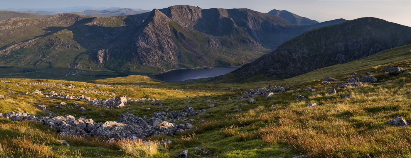 Tryfan, Glyder Fach and Glyder Fawr and the Snowdon summit/Snowdonia Wales Landscape Photography