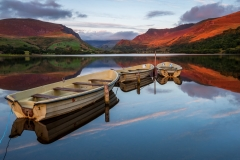 Wales Landscape Photography /Llyn Nantlle Uchaf Snowdonia North Wales spectacular autumn sunset