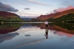 Wales Landscape Photography/ Llyn Nantlle Uchaf Autumn sunset Nantlle Valley, Gwynedd, Wales