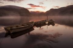 Wales Landscape Photography/ Llyn Nantlle Uchaf Autumn sunrise Nantlle Valley, Gwynedd, Wales
