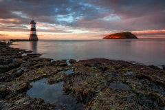 Wales Landscape Photography / Penmon Lighthouse sunset