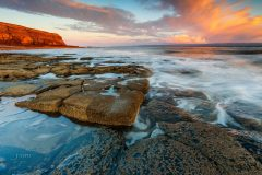 Landscape photography prints for sale/Monknash Coast Vale of Glamorgan, South Wales at sunset