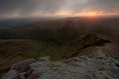 Wales Landscape Photography / Sunrise Light from The Pen y Fan view