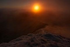 Wales Landscape Photography / Brecon mountain from The Summit at sunrise