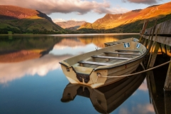 Wales Landscape Photography /Llyn Nantle Uchaf Snowdonia North Wales at stunning beauty golden hour
