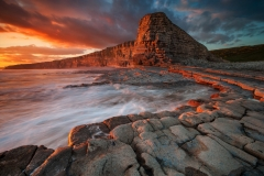Wales Landscape Photography / Vale of Glamorgan Painting on Red